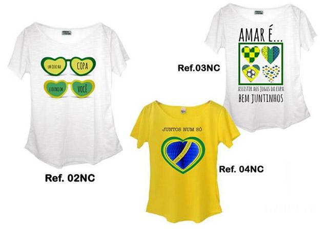 Camisetas para torcer pelo Brasil na Copa