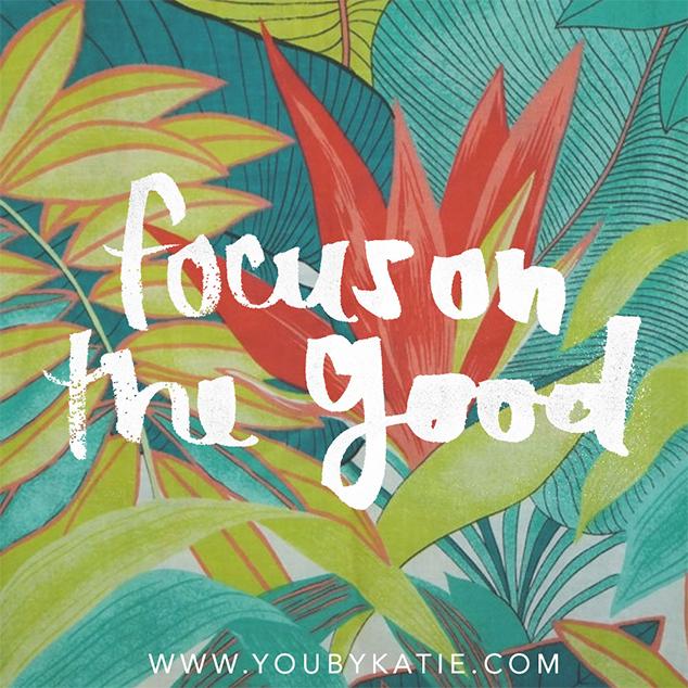 Foque nas coisas boas :)