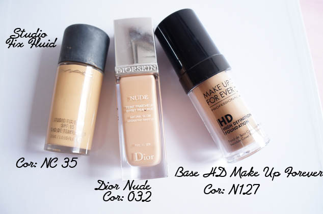Studio Fix Fluid, Dior Nude, Base HD MUFE
