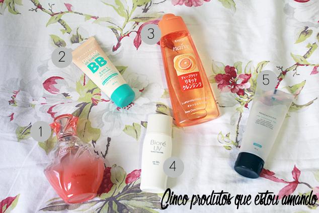 Cinco produtos