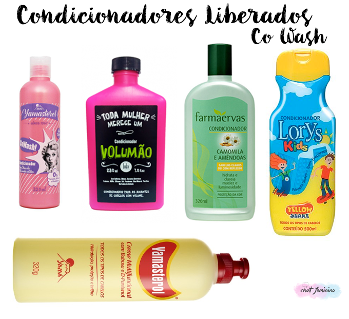 Condicionadores liberados para Co Wash
