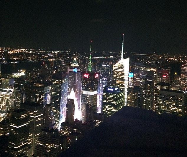 Vista do Empire State Building à noite