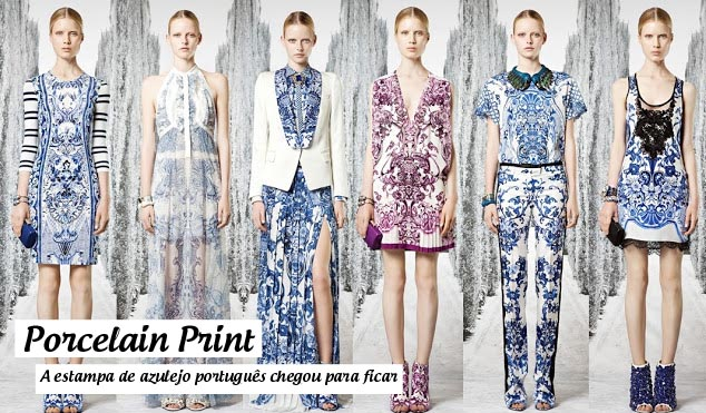 Estampa azulejo português porcelain print
