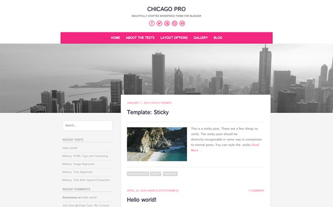 Layout Gratuito WordPress