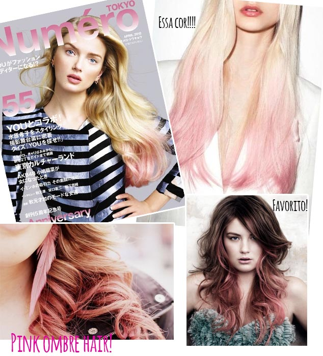 ombré pink hair