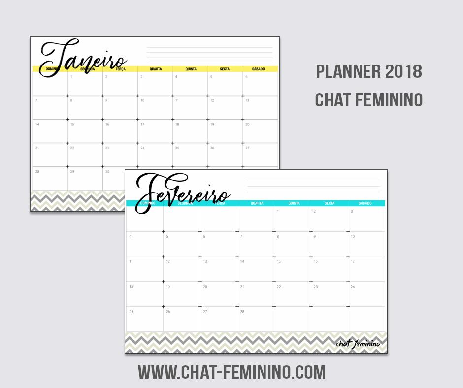 planner 2018 gratuito para download
