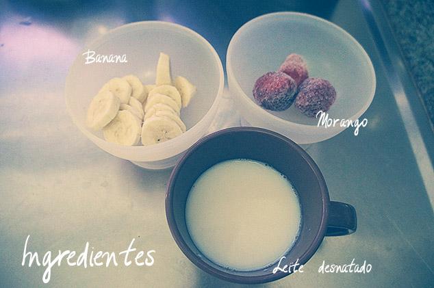 smoothie de banana com morango