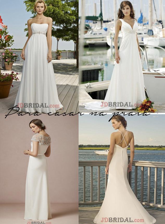 vestidos de noiva praia
