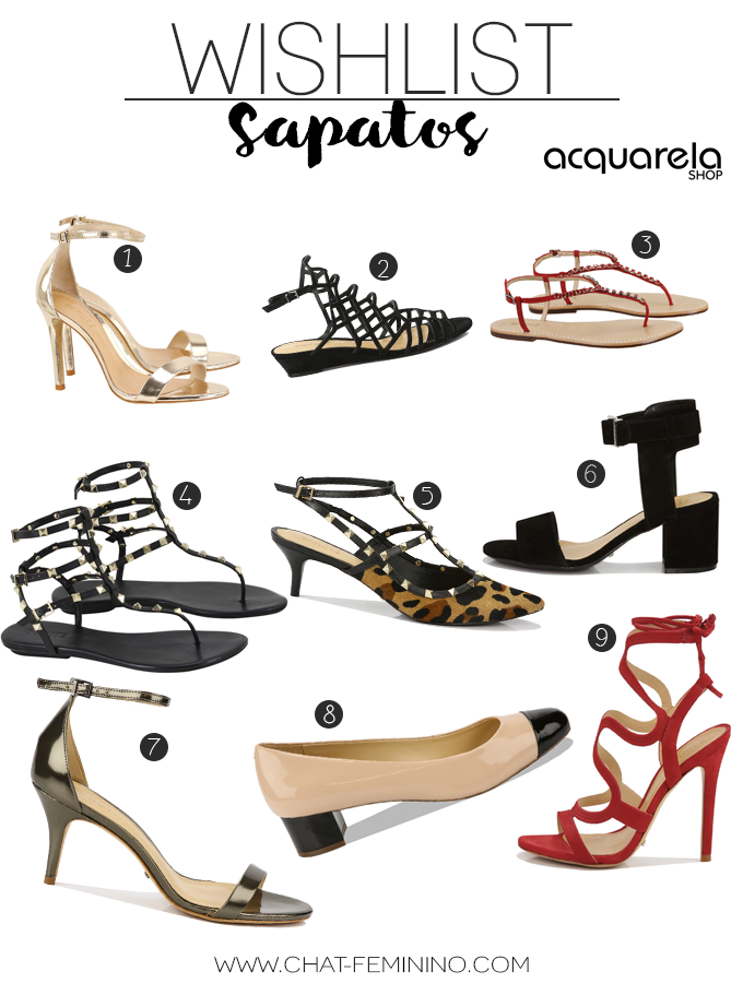 Wishlist Sapatos - Acquarela Shop
